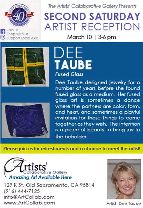 Artist Dee Taube at Artists' Collaborative