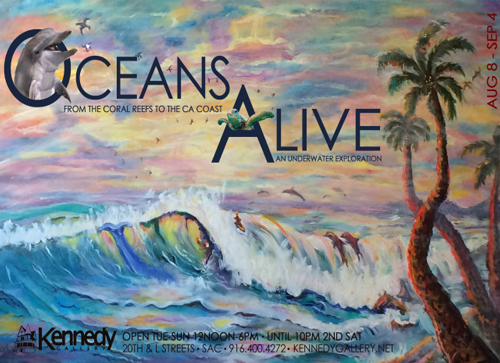 """""""Ocean's Alive"""" at Kennedy Gallery in August 2018"""
