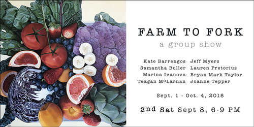 Farm to Fork at Elliott Fouts Gallery in September 2018