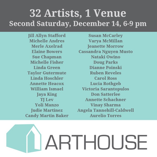 32 Artists 1 Venue at Arthouse on R in December 2019