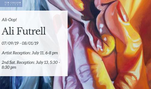 Ali-Oop! at Tim Collom Gallery in July 2019